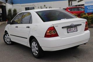 2006 Toyota Corolla ZZE122R 5Y Ascent White 4 Speed Automatic Sedan.