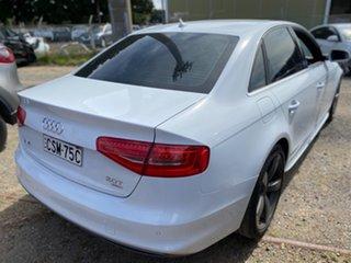 2013 Audi A4 B8 8K MY13 S Tronic Quattro White 7 Speed Sports Automatic Dual Clutch Sedan.