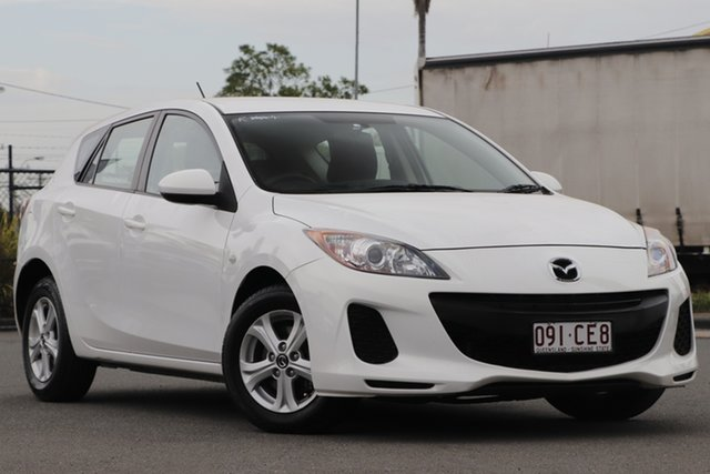 Used Mazda 3 BL10F2 MY13 Neo Activematic Rocklea, 2013 Mazda 3 BL10F2 MY13 Neo Activematic Crystal White Pearl 5 Speed Sports Automatic Hatchback
