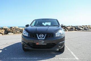 2012 Nissan Dualis J10 Series II MY2010 ST Hatch Black 6 Speed Manual Hatchback.