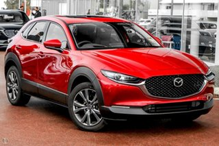 2021 Mazda CX-30 DM4WLA G25 SKYACTIV-Drive i-ACTIV AWD Astina Red 6 Speed Sports Automatic Wagon.