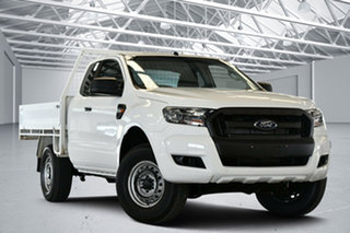 2016 Ford Ranger PX MkII XL 3.2 (4x4) Cool White 6 Speed Manual Super Cab Chassis.