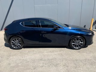 2021 Mazda 3 BP2H7A G20 SKYACTIV-Drive Touring Deep Crystal Blue 6 Speed Sports Automatic Hatchback.