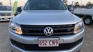 2012 Volkswagen Amarok 2H MY12 TDI400 (4x4) Silver 6 Speed Manual Dual Cab Utility.