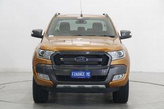 2015 Ford Ranger PX MkII Wildtrak Double Cab Pride Orange 6 Speed Sports Automatic Utility.