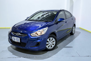 2015 Hyundai Accent RB3 MY16 Active Blue 6 Speed Manual Hatchback.