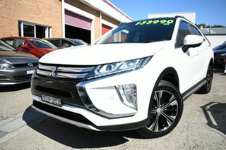 2018 Mitsubishi Eclipse Cross YA MY18 Exceed (2WD) White Continuous Variable Wagon.