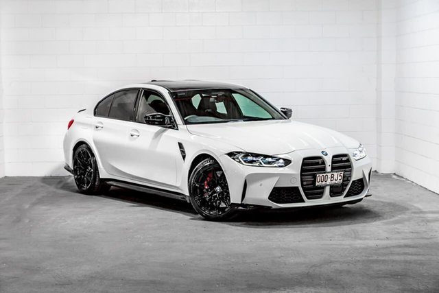 Used BMW M3 G80 Competition M Steptronic Southport, 2020 BMW M3 G80 Competition M Steptronic White 8 Speed Sports Automatic Sedan
