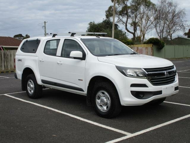 Used Holden Colorado LS (4x4) Timboon, 2017 Holden Colorado RG Turbo LS (4x4) Alpine White Automatic Cab Chassis