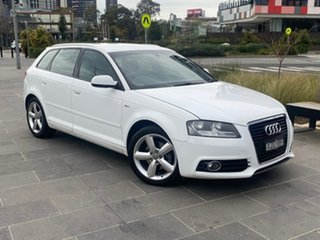 2011 Audi A3 8P MY11 TFSI Sportback S Tronic Ambition White 7 Speed Sports Automatic Dual Clutch.