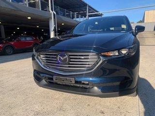 2021 Mazda CX-8 KG2WLA Sport SKYACTIV-Drive FWD Deep Crystal Blue 6 Speed Sports Automatic Wagon.