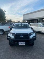 2018 Mitsubishi Triton MR MY19 GLX Double Cab White 6 Speed Sports Automatic Utility.