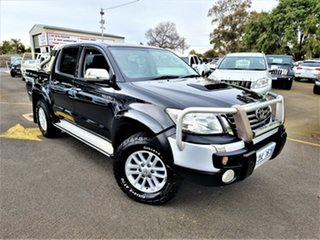 2013 Toyota Hilux KUN26R MY14 SR5 Double Cab Black 5 Speed Automatic Utility.