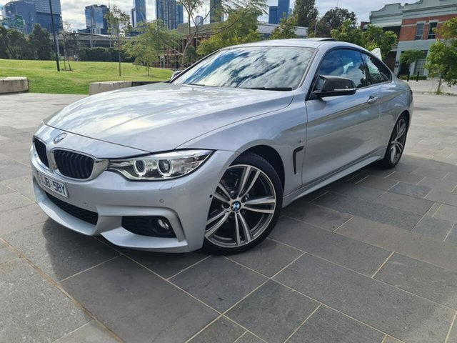Used BMW 4 Series F32 420i M Sport South Melbourne, 2017 BMW 4 Series F32 420i M Sport Silver 8 Speed Sports Automatic Coupe