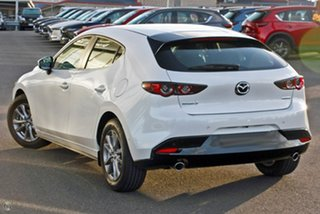 2021 Mazda 3 BP2H7A G20 SKYACTIV-Drive Pure White 6 Speed Sports Automatic Hatchback.