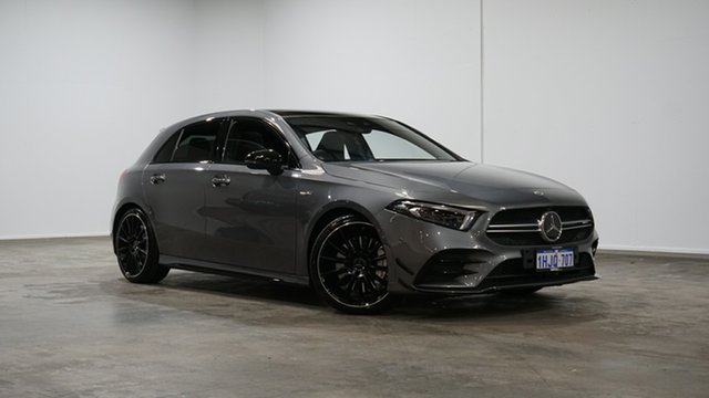 Used Mercedes-Benz A-Class W177 801+051MY A35 AMG SPEEDSHIFT DCT 4MATIC Welshpool, 2021 Mercedes-Benz A-Class W177 801+051MY A35 AMG SPEEDSHIFT DCT 4MATIC Grey 7 Speed