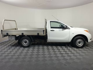 2013 Mazda BT-50 UP0YD1 XT 4x2 White 6 Speed Manual Cab Chassis