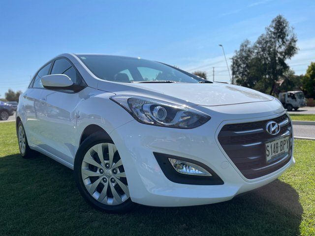 Used Hyundai i30 GD4 Series II MY17 Active Hindmarsh, 2016 Hyundai i30 GD4 Series II MY17 Active White 6 Speed Sports Automatic Hatchback