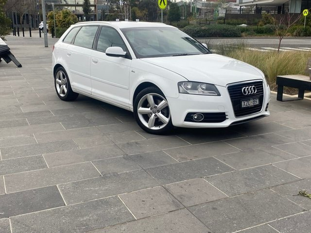 Used Audi A3 8P MY11 TFSI Sportback S Tronic Ambition South Melbourne, 2011 Audi A3 8P MY11 TFSI Sportback S Tronic Ambition White 7 Speed Sports Automatic Dual Clutch