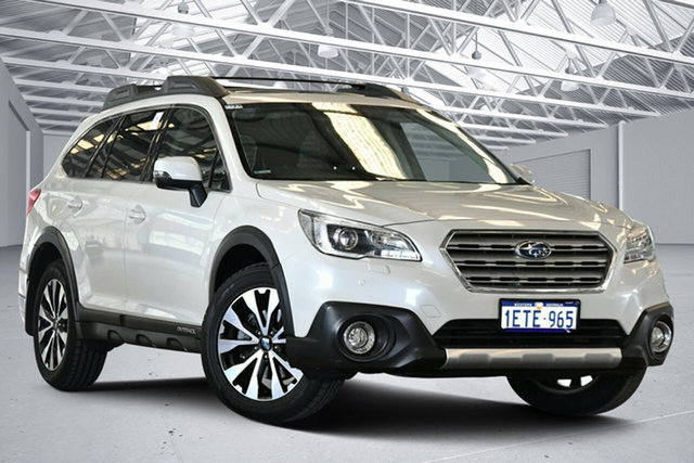 Used Subaru Outback MY15 2.0D Premium AWD Perth Airport, 2015 Subaru Outback MY15 2.0D Premium AWD Crystal White Pearl Continuous Variable Wagon