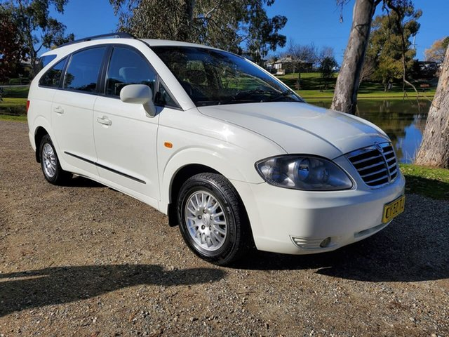 Used Ssangyong Stavic A100 MY08 Wodonga, 2012 Ssangyong Stavic A100 MY08 White 5 Speed Sports Automatic Wagon
