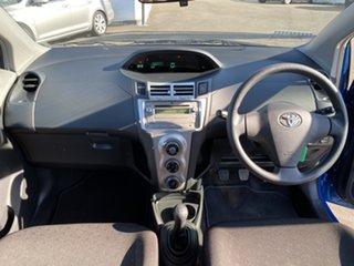 2007 Toyota Yaris NCP90R YR Blue 5 Speed Manual Hatchback