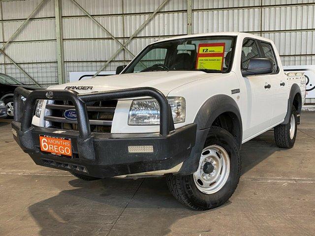 Used Ford Ranger PJ XL Crew Cab Rocklea, 2008 Ford Ranger PJ XL Crew Cab White 5 Speed Manual Utility