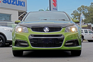 2015 Holden Commodore VF MY15 SV6 Green 6 Speed Manual Sedan.
