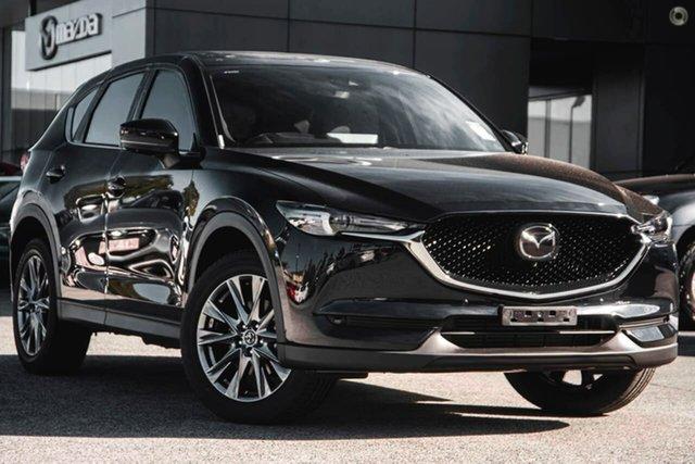 New Mazda CX-5 KF4WLA Akera SKYACTIV-Drive i-ACTIV AWD Waitara, 2021 Mazda CX-5 KF4WLA Akera SKYACTIV-Drive i-ACTIV AWD Black 6 Speed Sports Automatic Wagon
