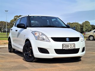 2013 Suzuki Swift FZ GA White 4 Speed Automatic Hatchback.