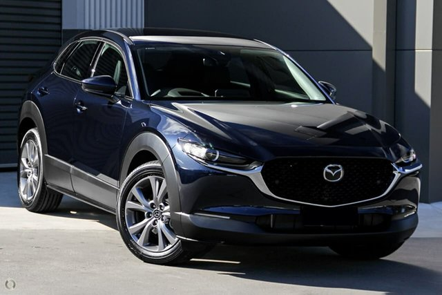 New Mazda CX-30 DM2W7A G20 SKYACTIV-Drive Touring Waitara, 2021 Mazda CX-30 DM2W7A G20 SKYACTIV-Drive Touring Blue 6 Speed Sports Automatic Wagon