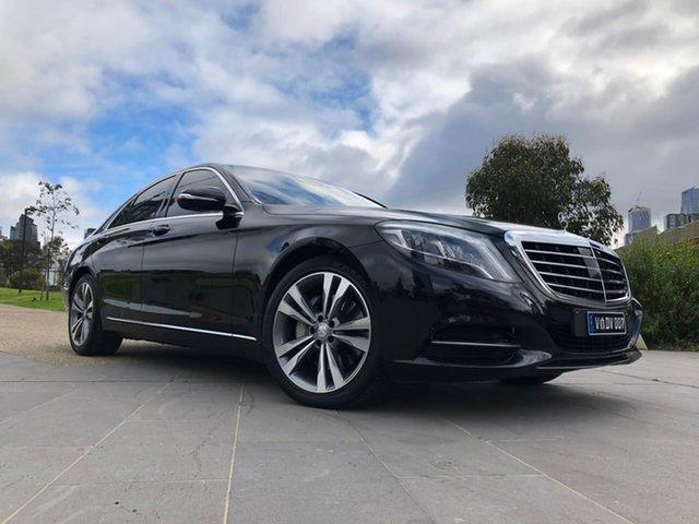 Used Mercedes-Benz S-Class W222 S350 BlueTEC 7G-Tronic + South Melbourne, 2014 Mercedes-Benz S-Class W222 S350 BlueTEC 7G-Tronic + Black 7 Speed Sports Automatic Sedan