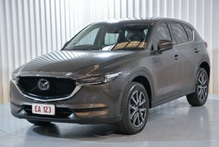 2017 Mazda CX-5 KF4W2A Akera SKYACTIV-Drive i-ACTIV AWD Grey 6 Speed Sports Automatic Wagon.