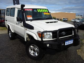 2016 Toyota Landcruiser VDJ78R MY12 Update Workmate (4x4) 2 Seat White 5 Speed Manual TroopCarrier.