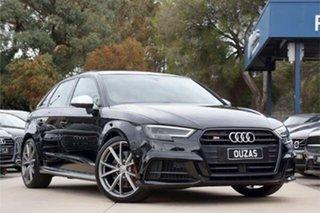 2017 Audi S3 8V MY17 Sportback S Tronic Quattro Black 7 Speed Sports Automatic Dual Clutch Hatchback.