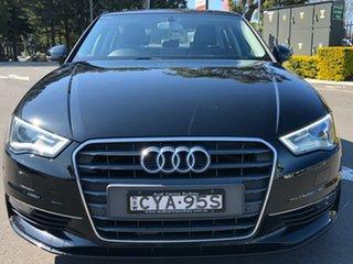 2014 Audi A3 8V MY15 Ambition S Tronic Black 7 Speed Sports Automatic Dual Clutch Sedan.