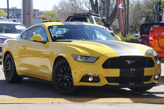 Used Ford Mustang FM 2017MY GT Fastback SelectShift Toowoomba, 2016 Ford Mustang FM 2017MY GT Fastback SelectShift Yellow 6 Speed Sports Automatic Fastback
