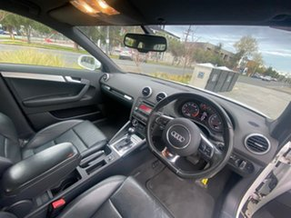 2011 Audi A3 8P MY11 TFSI Sportback S Tronic Ambition White 7 Speed Sports Automatic Dual Clutch