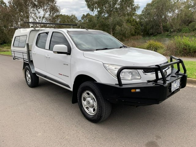 Used Holden Colorado RG LX Geelong, 2014 Holden Colorado RG LX White Sports Automatic Utility