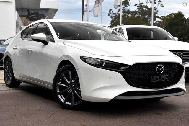 New Mazda 3 BP2H7A G20 SKYACTIV-Drive Touring Waitara, 2021 Mazda 3 BP2H7A G20 SKYACTIV-Drive Touring White 6 Speed Sports Automatic Hatchback