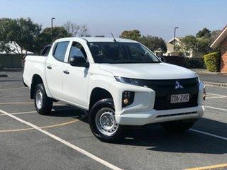 2019 Mitsubishi Triton MR MY19 GLX Double Cab White 6 Speed Sports Automatic Utility.