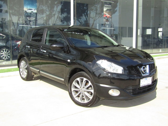 Used Nissan Dualis J10W Series 3 MY12 Ti Hatch X-tronic 2WD Ravenhall, 2013 Nissan Dualis J10W Series 3 MY12 Ti Hatch X-tronic 2WD Black 6 Speed Constant Variable