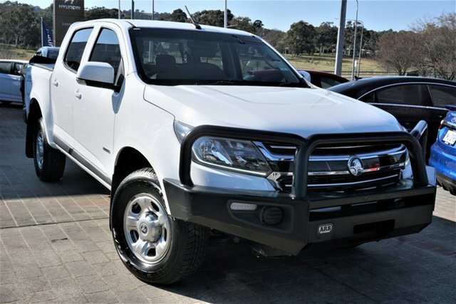 Used Holden Colorado RG MY18 LS Pickup Crew Cab 4x2 Phillip, 2018 Holden Colorado RG MY18 LS Pickup Crew Cab 4x2 White 6 Speed Manual Utility