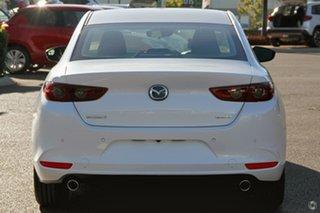 2021 Mazda 3 BP2S7A G20 SKYACTIV-Drive Pure White 6 Speed Sports Automatic Sedan.