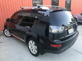 2008 Mitsubishi Outlander ZG MY08 XLS Luxury Black 6 Speed Constant Variable Wagon.