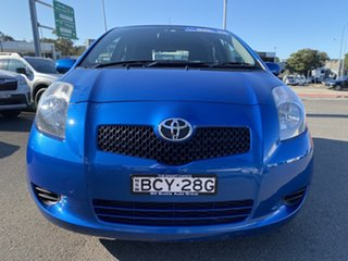 2007 Toyota Yaris NCP90R YR Blue 5 Speed Manual Hatchback.