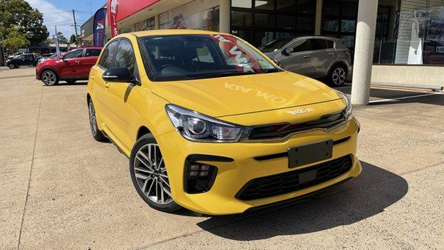 New Kia Rio YB MY22 GT-Line DCT Toowoomba, 2021 Kia Rio YB MY22 GT-Line DCT Mighty Yellow 7 Speed Sports Automatic Dual Clutch Hatchback