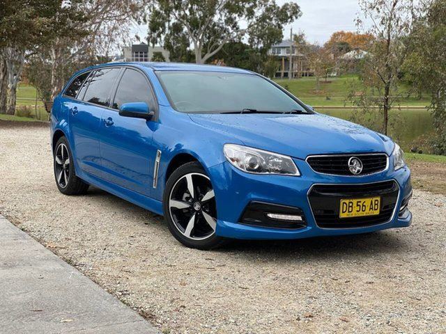 Used Holden Commodore VF MY15 SV6 Sportwagon Wodonga, 2015 Holden Commodore VF MY15 SV6 Sportwagon Blue 6 Speed Sports Automatic Wagon