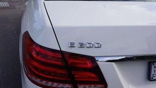2015 Mercedes-Benz E-Class W212 806MY E200 7G-Tronic + White 7 Speed Sports Automatic Sedan.