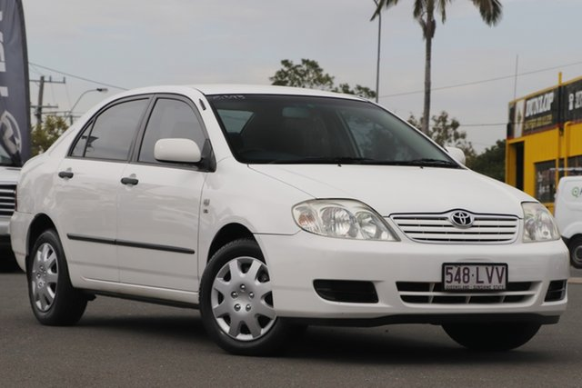 Used Toyota Corolla ZZE122R 5Y Ascent Rocklea, 2006 Toyota Corolla ZZE122R 5Y Ascent White 4 Speed Automatic Sedan